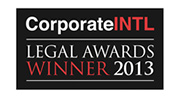 Corporate INTL - Legal Awards Winner 2013